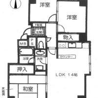 最上階東南角部屋(間取)