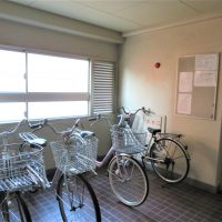 居住階に1台自転車置けます